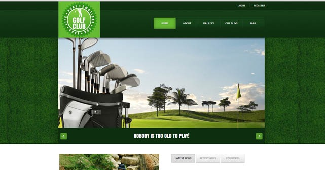 Golf Club Joomla