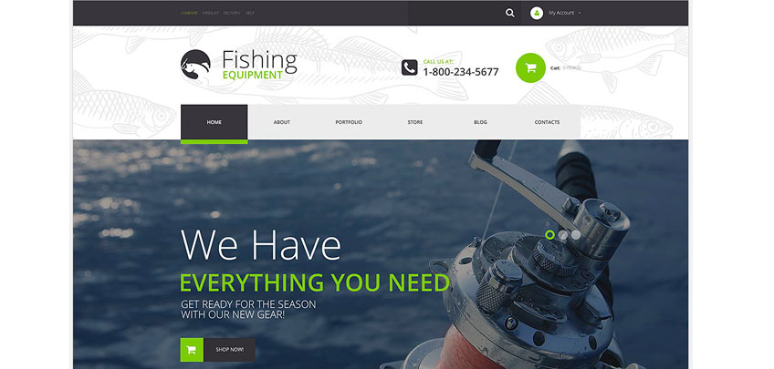 fishing woocommerce